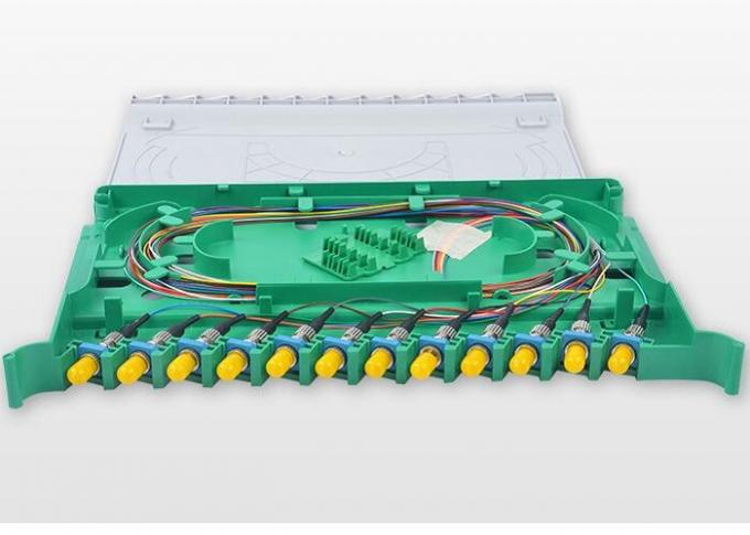 288 Core Fiber Optic Distribution Unit , Multimode 144 Port Fiber Patch Panel