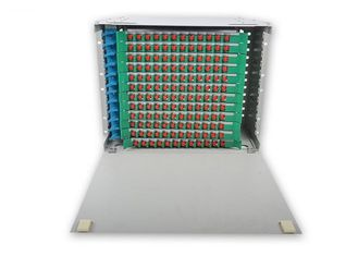 China 288 Core Fiber Optic Distribution Unit , Multimode 144 Port Fiber Patch Panel supplier
