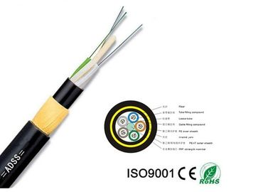 Aramid Yarn Fiber Optic Cable High Voltage Power All - Dielectric 12-144 Core